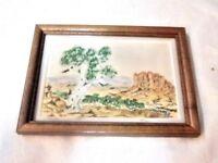 A Vintage Small Australian Hermannsburg School Style Landscape Picture Print