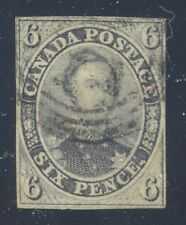 Canada 1855 Consort 6d grey violet on Thick Hard Paper #5d VF 4RC - VGG CERT