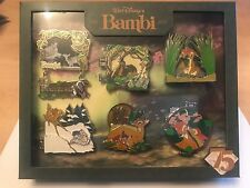 New Disney Bambi Pin Set D23 75th Anniversary Box Set 6 Pins Limited to 500 NIB