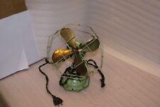 Vintage Fitzgerald Star Rite Brass Blade Octagonal Art Deco Fan