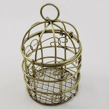 37321 Vintage Bronze Tone Alloy Bird Cage Charm Pendant Finding Hot Sale 2pcs