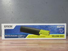 TONER Original + EPSON Yellow 0187+ AcuLaser C1100 CX11 + OVP