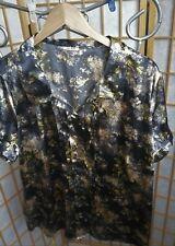 """elegante Damen Bluse """"so bin ich"""" Gr. 48, schwarz-gold"""