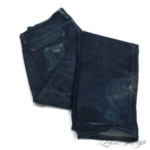 Naked & Famous Weirdguy Weird Guy Indigo Blue Faded Wash Selvedge Denim Jeans 32