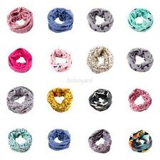 Winter Baby Cotton Neck Wrap Scarves Kids Boys Girls Child Warm Circle Scarf