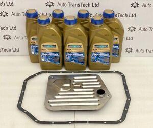 jaguar xj xk8 zf 5 speed 5hp24 automatic gearbox oil filter gasket 7L fluid kit