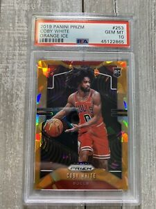 2019 Panini Prizm Orange Ice #253 Coby White RC Rookie PSA 10 Gem Mint PMJS