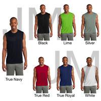 Men's Sport Tek ST352 Sleeveless Dri-Fit Workout T-Shirt S-4XL