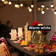 6M Christmas LED String Light Bulb Lamp With Hook Indoor Decor Warm White Light
