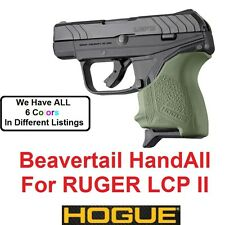 OD GREEN Hogue Rubber HandAll Beavertail Grip Sleeve Ruger LCP II LCP 2 LCPII
