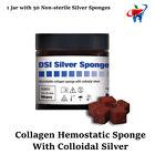 50pc Dental Surgical Socket Bleeding Collagen Hemostatic Sponge Colloidal Silver