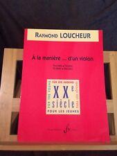 Raymond Loucheur A la manière de... partition pour piano éditions Billaudot