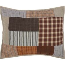 RORY Standard Sham Patchwork Block Plaid Stripe Farmhouse Cabin Rustic 21x27 VHC