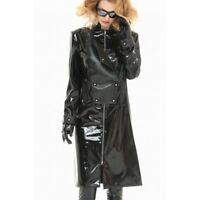 Patrice Catanzaro, Constance, Manteau long sexy en vinyle noir pour femme