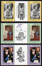 Redonda 1986 QEII 60th Birthday gutter pairs MNH