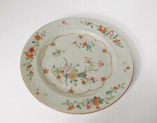 Assiette compagnie des Indes famille verte décor fleurs époque XVIIIème