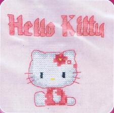 Lindo Gatito Hello Kitty Custo Cross Stitch Kit de DMC utilizando residuos De Lona