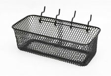 Steel Pegboard Basket 9.13 x 3.66 Inch Tool and Containers Storage Space Black