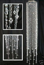 Large Beaded Acrylic Crystal CHANDELIER Faceted Drops Light Kit