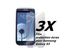 SAMSUNG GALAXY S3 LOT DE 3 FILMS PROTECTION TRANSPARENT ÉCRAN SCREEN PROTECTOR.
