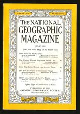 NATIONAL GEOGRAPHIC JULY 1958 Atlas Links Roman And Atomic Times British Isles