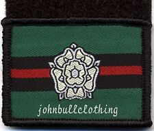 YORKSHIRE REGIMENT GREEN FLASH - HOOK & LOOP MILITARY CLOTH PATCH