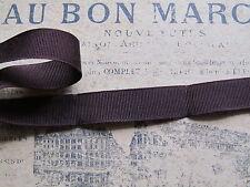 MERCERIE ANCIENNE GALON-GROS-GRAIN MARRON Chocolat-Larg.1,3cm/Au m