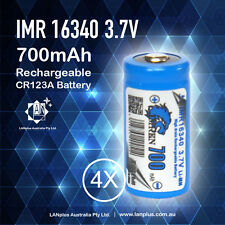2x IMREN RCR123a Rechargeable 16340 3.7V 700mAh Lithium Li-ion Battery