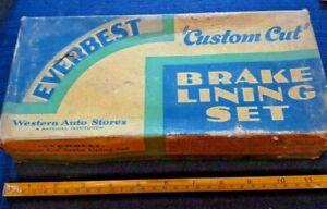Antique Western Auto Stores Everbest Brake Lining Set SW5060