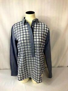 Ann Taylor Loft Women's Blouse Size XS Chambray Blue The Softened Shirt Top