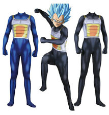 Dragon Ball Vegeta Cosplay Costume Zentai Jumpsuit Bodysuit Halloween Adult Kids
