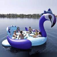 Sun Pleasure Mega-Sized Inflatable Magical Party Peacock Island 6 Person Float