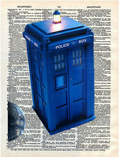 Art N Wordz Dr. Who Telephone Booth Original Dictionary Page Wall/Desk Art Print