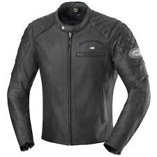 IXS eliott motocicleta chaqueta de cuero caballero vintage-negro