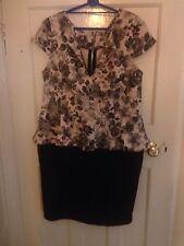 Elastane Floral Plus Size Dresses for Women