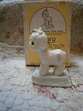 Mib Precious Moments Ornament Merry Christmas Little Lamb w/ #1 #521078