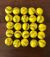 36 Small Yellow Soft Training Balls 1 inch