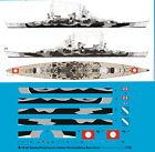 Peddinghaus 1/1250 ep 3291 acorazado Scharnhorst 6.9.1943 con rumpftarnung