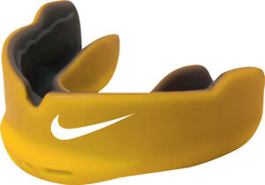 Nike Intake Mouthguard Yellow/Black with Strap Quick Release Junior Sports