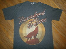 MUMFORD & SONS CONCERT T SHIRT Softest Tour Tee Lone Wolf Moon 2-Sided Cities