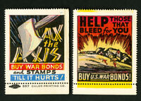 US Stamps Lot of 2 War Bond Labels