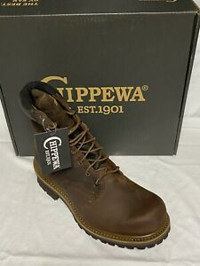 New Chippewa Men's  Heavy Duty Oiled Waterproof Lace-Up Utility Boot
