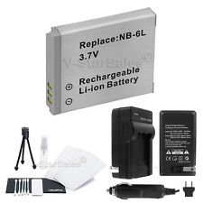 NB-6L NB-6LH Battery + Charger + BONUS for Canon PowerShot SD1200 SD1300 SD3500