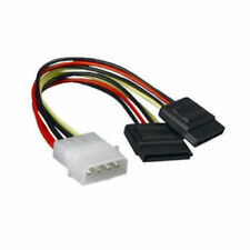 1x Molex to SATA Power Y Splitter Adaptor Cable Lead 2 Way 4 Pin to 2 X 15 Pin