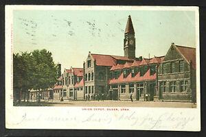 191-TRAINS & RAILROAD -UTAH -Union depot ogden (Undivided Back (c. 1901-1907)
