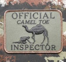 OFFICIAL CAMEL TOE INSPECTOR TACTICAL US ARMY MORALE MILSPEC FOREST HOOK PATCH