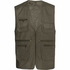 Mens Summer Lightweight Waistcoat Safari Gilet Jacket Fishing Hunting Hiking