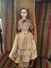 "ANTIQUE WAX DOLL 14"" tall"