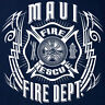 Maui Fire Department T-shirt Rescue Tribal - Short/Long Sleeve Sizes S to 5XL