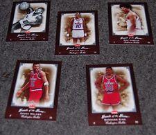 2005 Fleer Greats of the Game; Walker~King~Bol Washington Bullets 5 Card Set